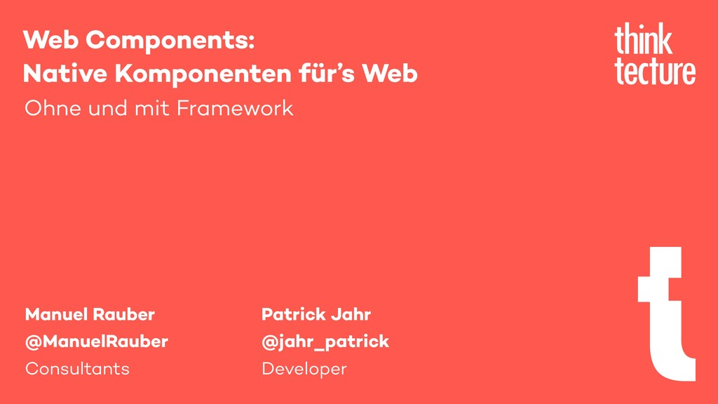 Web Components: