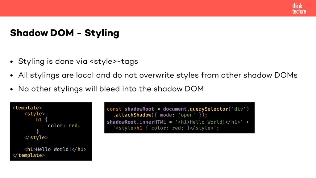 • Styling is done via <style>-tags • All stylin...