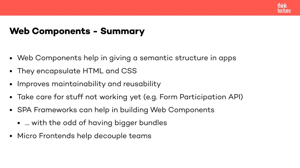 • Web Components help in giving a semantic stru...