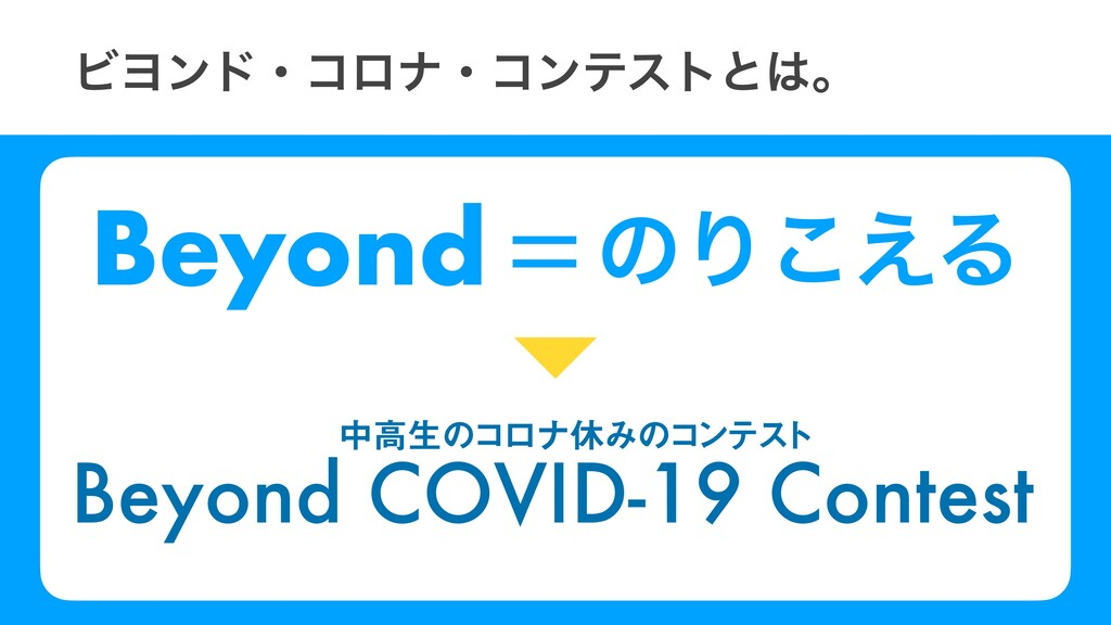Beyond ͷΓ͑͜Δ ϏϤϯυɾίϩφɾίϯςετͱɻ