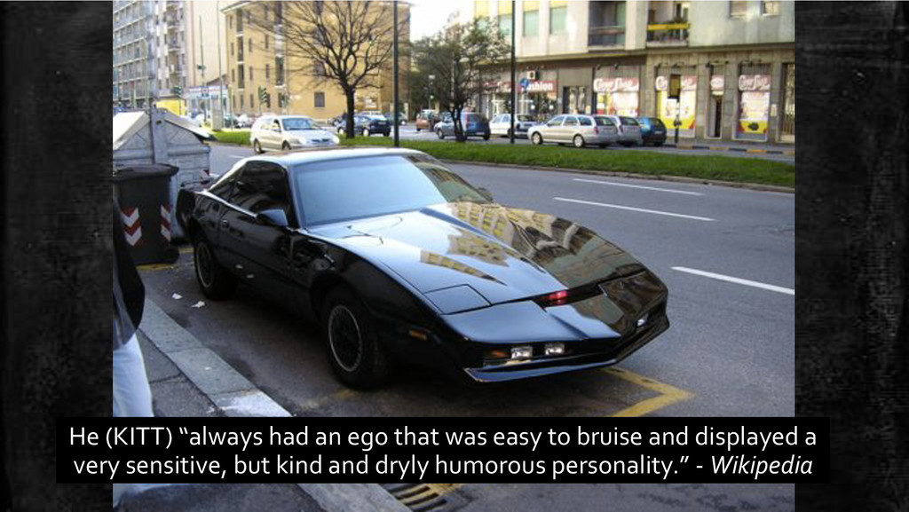 """He'(KITT)'""""always'had'an'ego'that'was'easy'to'b..."""