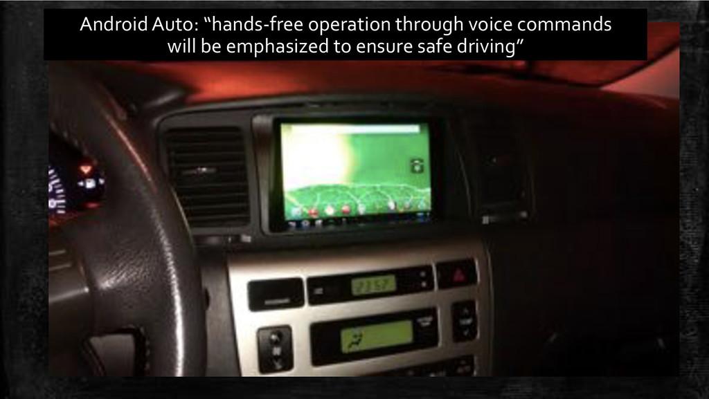"Android'Auto:'""handsBfree'operation'through'voi..."