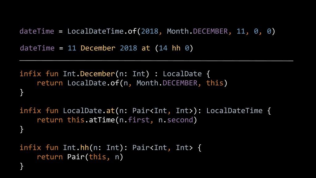 dateTime = LocalDateTime.of(2018, Month.DECEMBE...