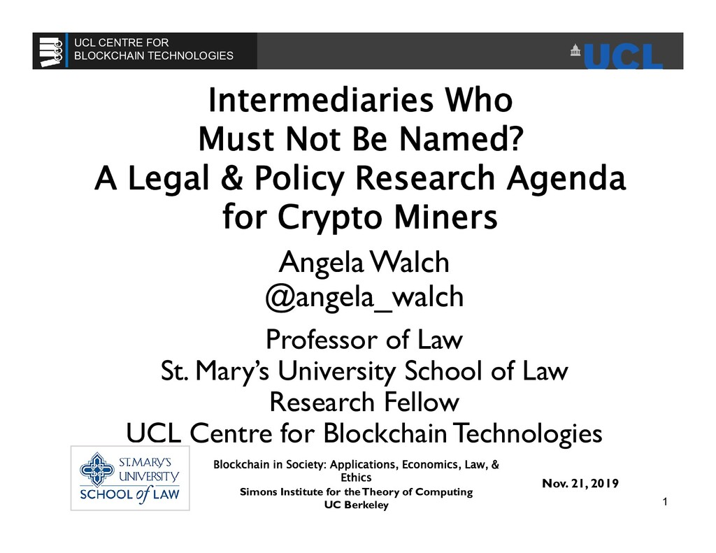 Intermediaries Who Must Not Be Named? A Legal &...
