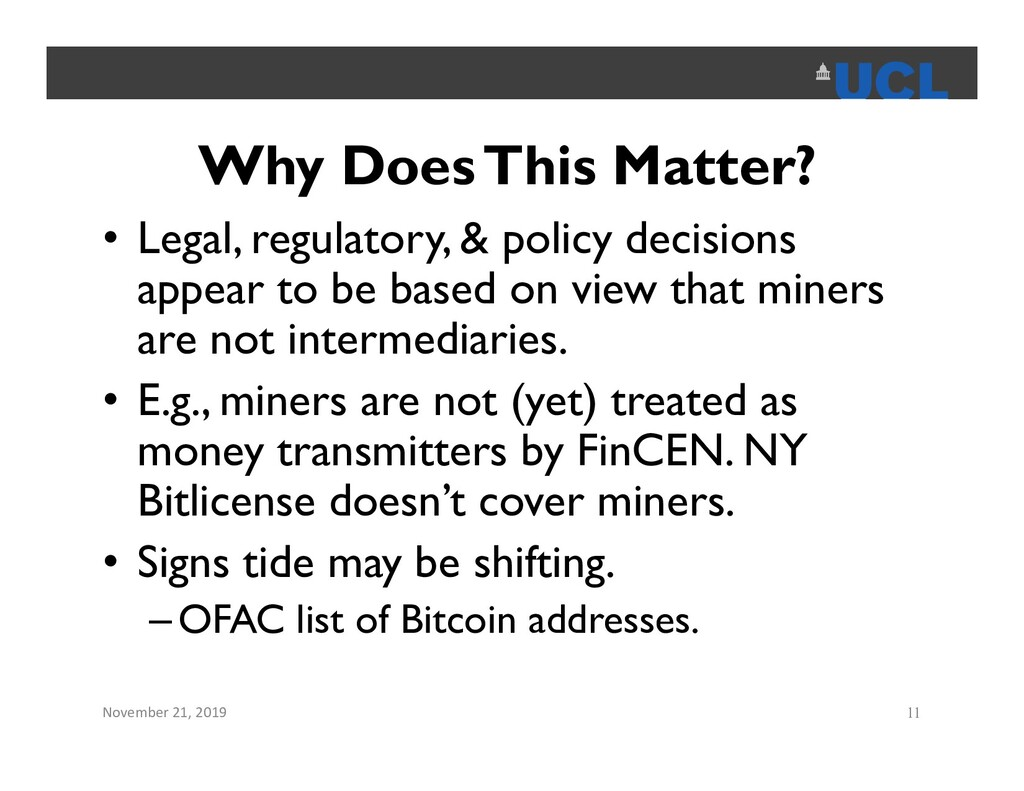 Why Does This Matter? • Legal, regulatory, & po...