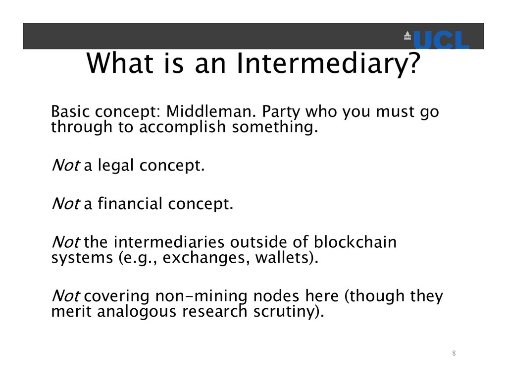 What is an Intermediary? Basic concept: Middlem...