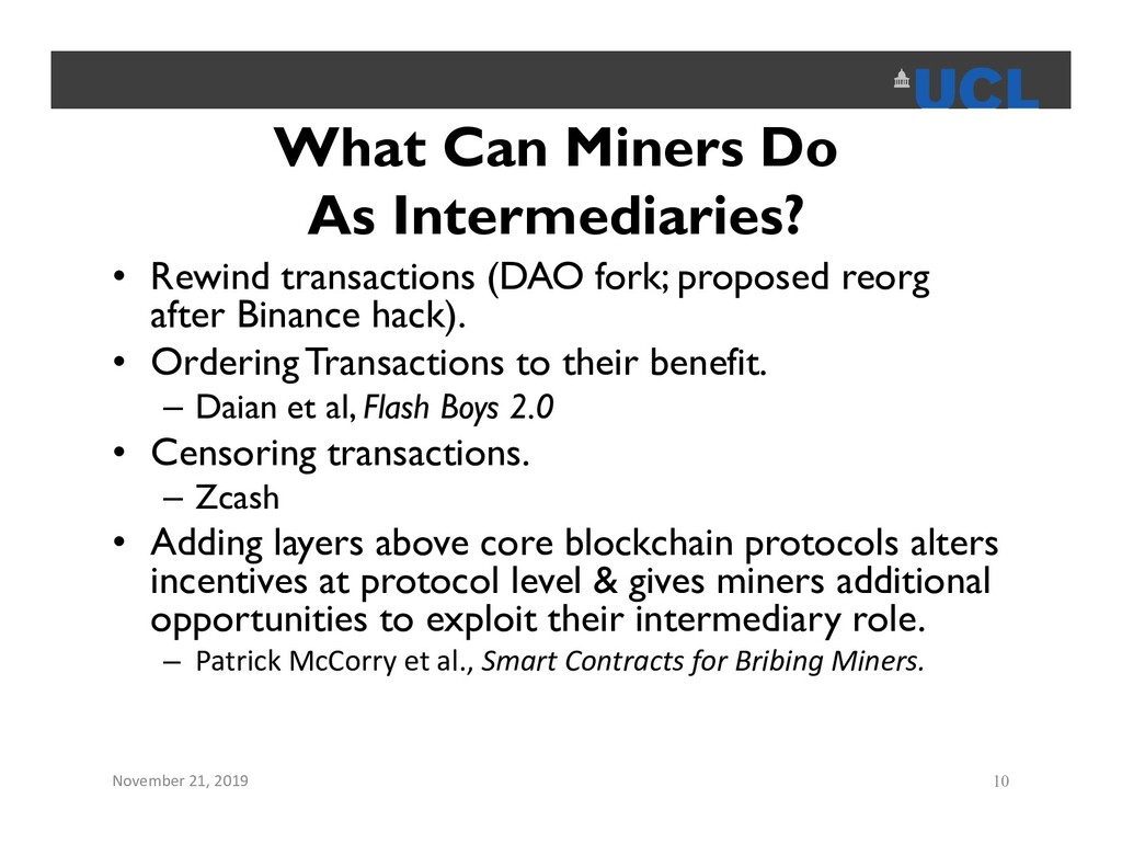 What Can Miners Do As Intermediaries? • Rewind ...