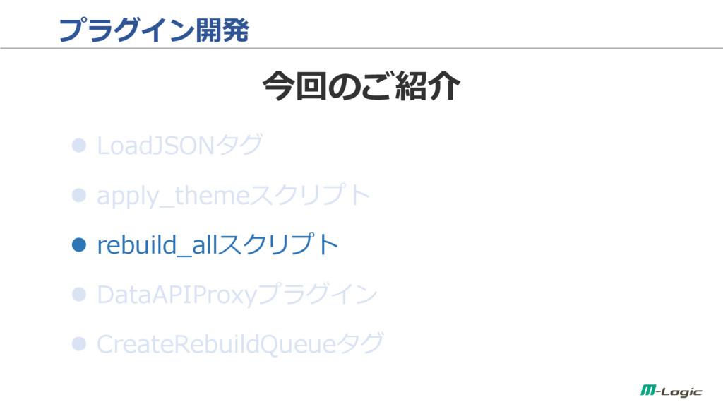 プラグイン開発  LoadJSONタグ  apply_themeスクリプト  rebui...