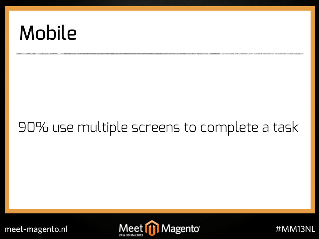 Mobile 90% use multiple screens to complete a t...