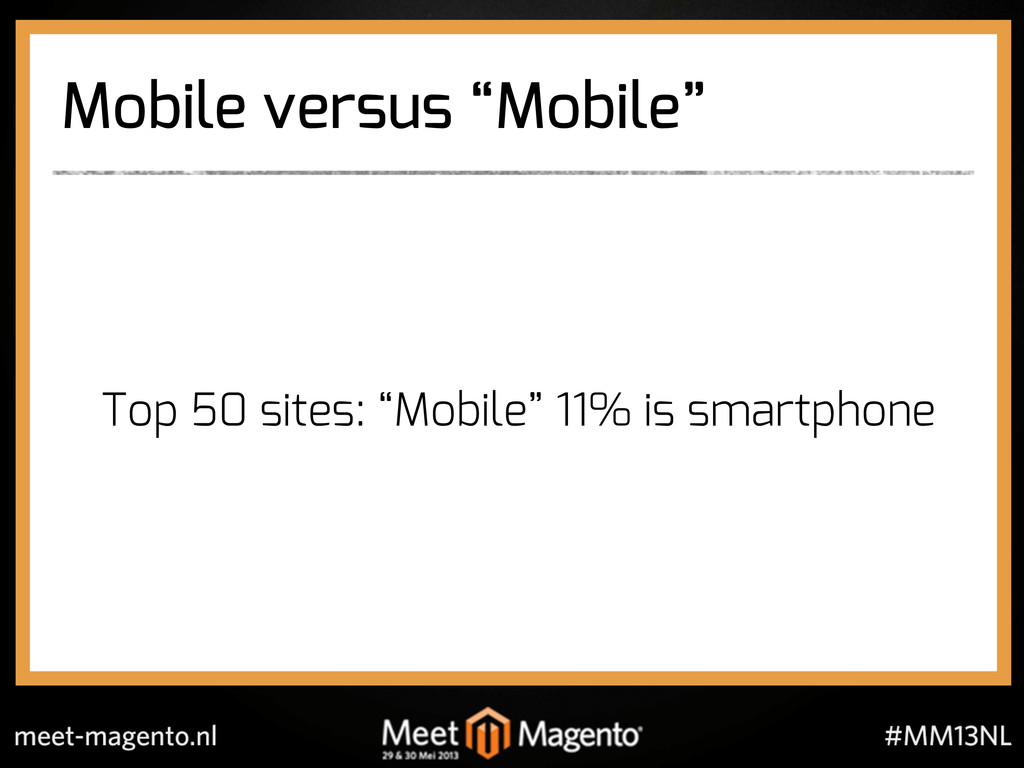 "Mobile versus ""Mobile"" Top 50 sites: ""Mobile"" 1..."