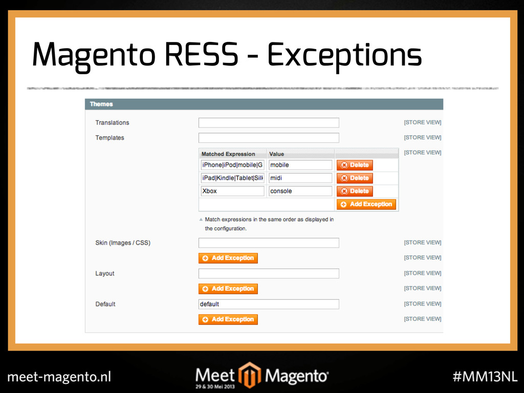 Magento RESS - Exceptions