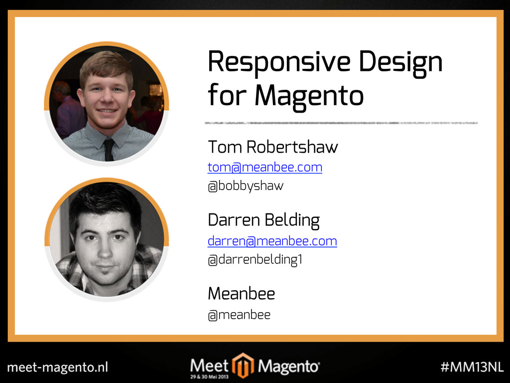 Responsive Design for Magento Tom Robertshaw to...