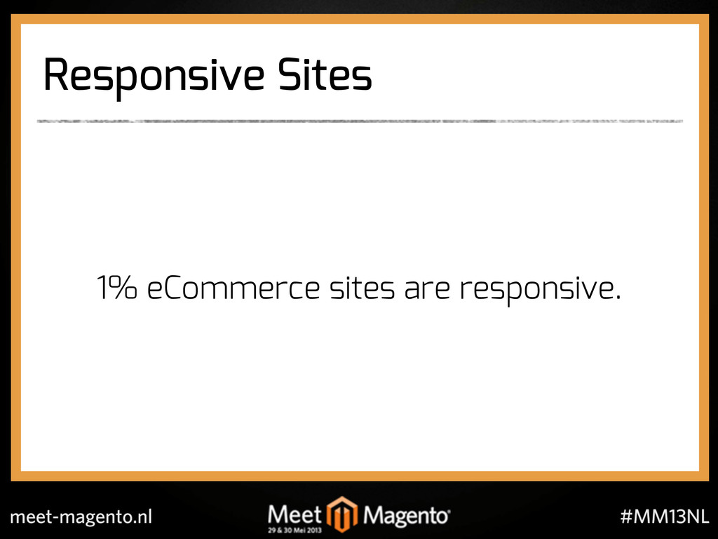 Responsive Sites ! ! ! 1% eCommerce sites are r...