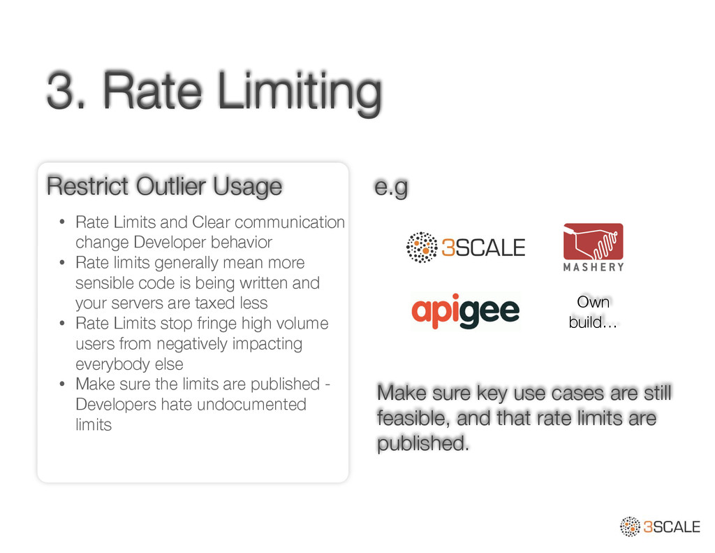 3. Rate Limiting • Rate Limits and Clear commun...