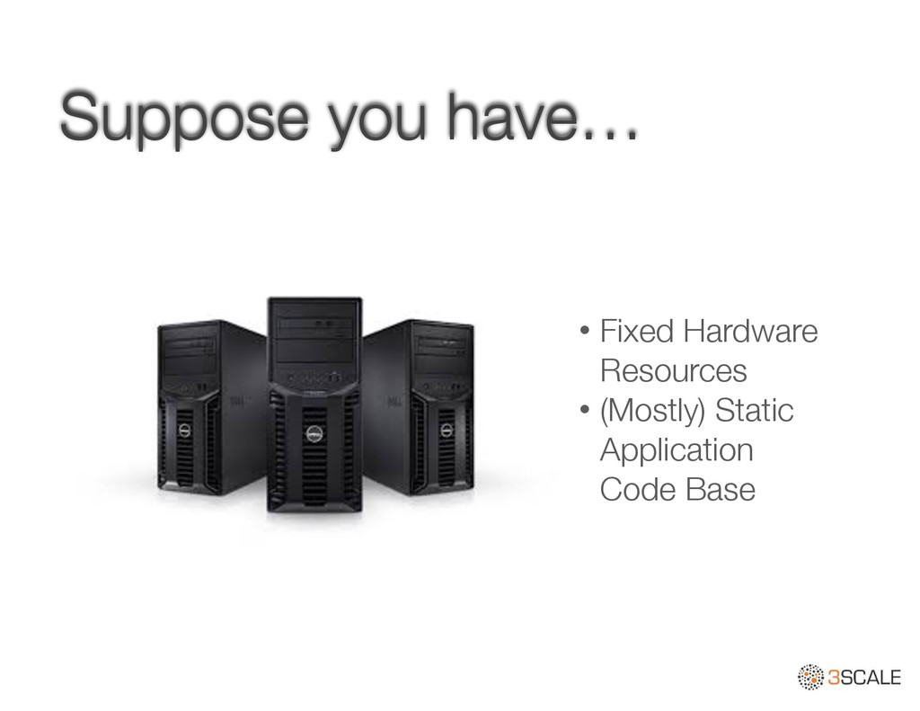 Suppose you have… • Fixed Hardware Resources • ...