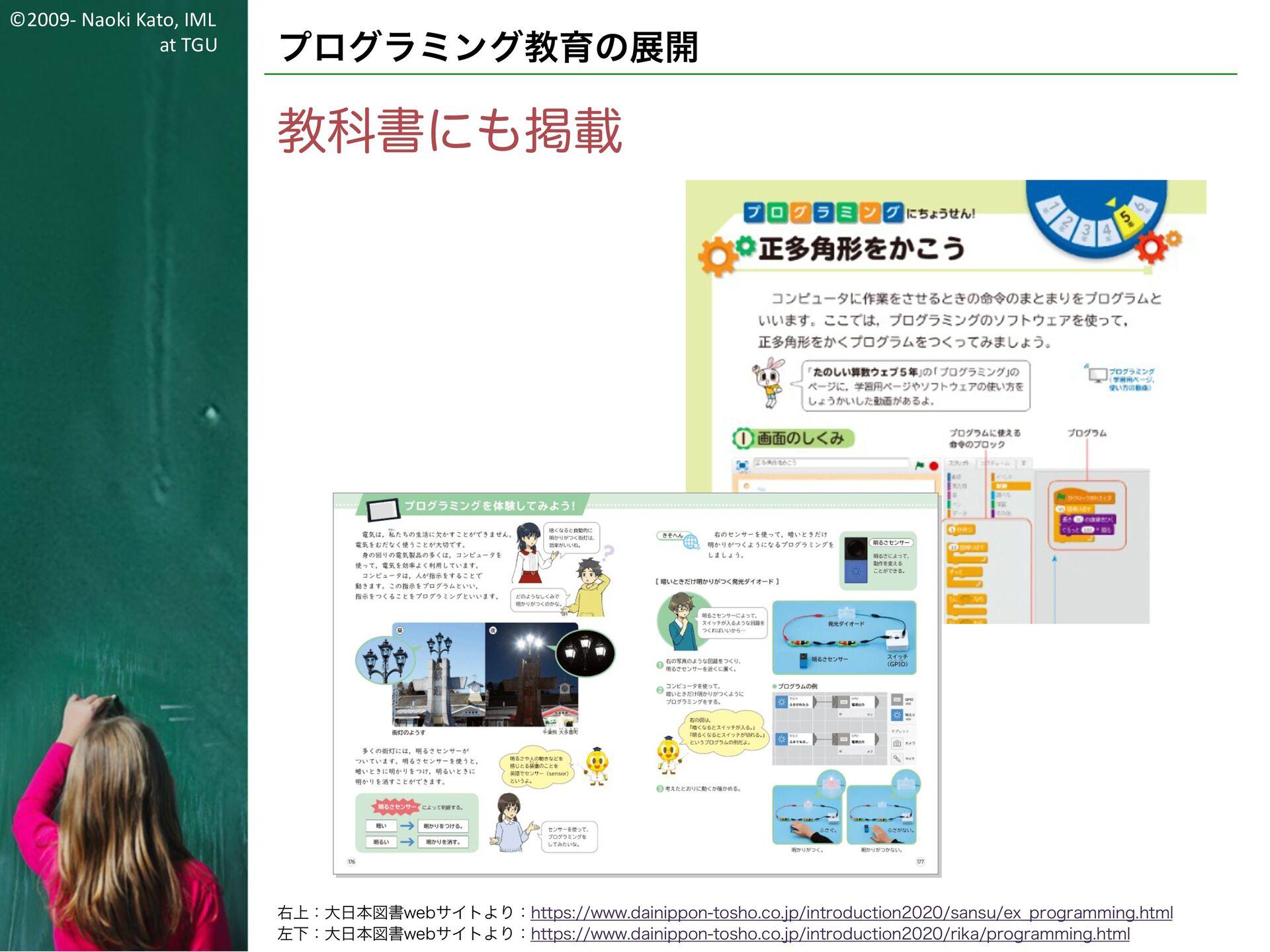 ©2009- Naoki Kato, IML at TGU プログラミング教育の展開 そのため...