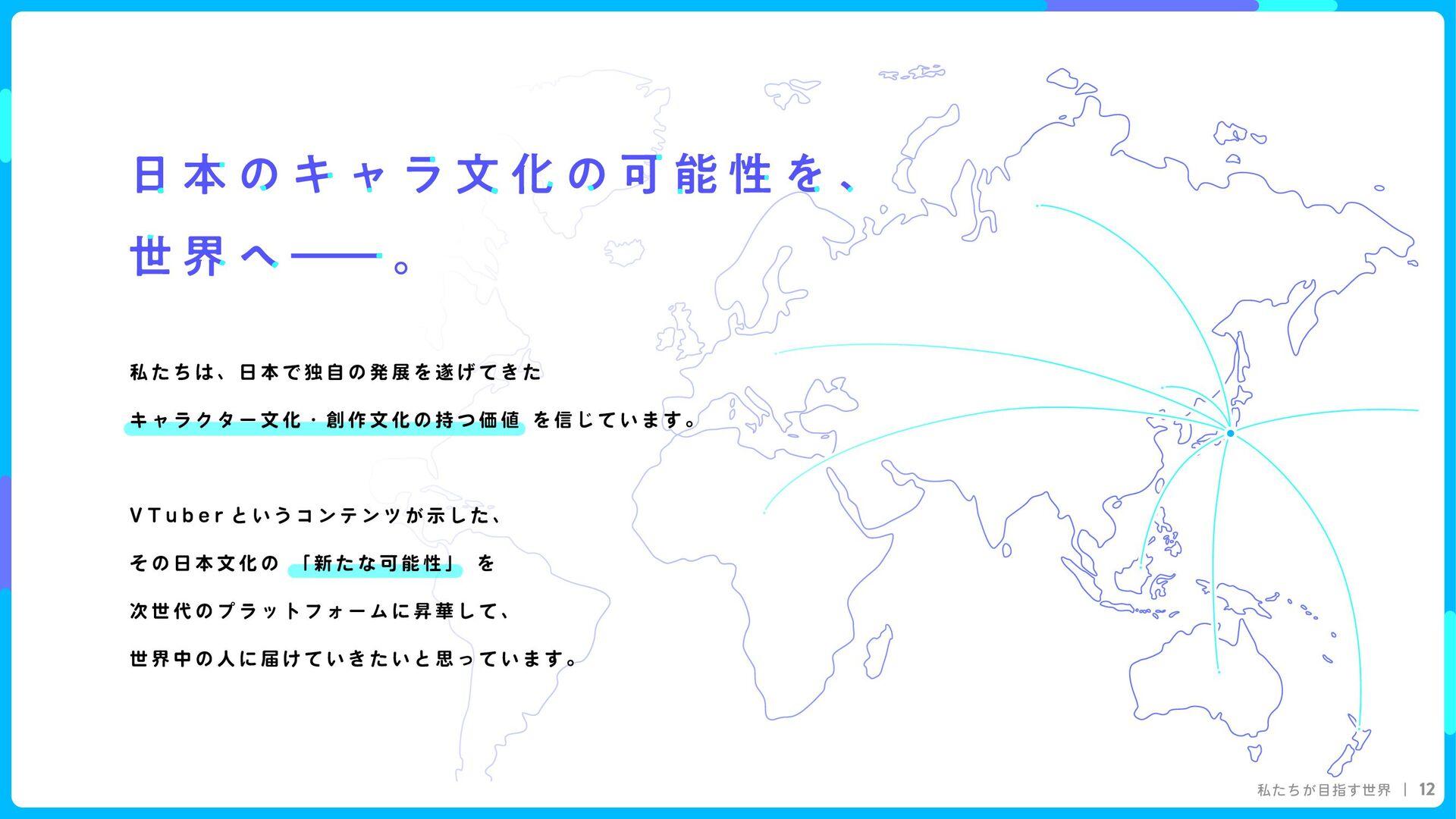 私たちが目指す世界 12 I R I A M 私たちは、日本で独自の発展を遂げてきた  キャラ...