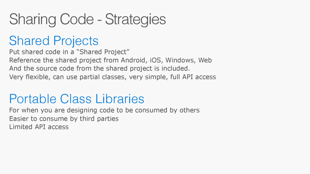 Sharing Code - Strategies Shared Projects Put s...