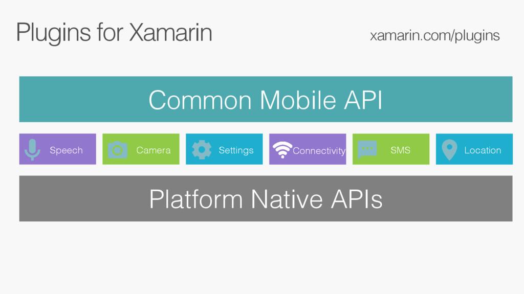 Plugins for Xamarin Common Mobile API xamarin.c...