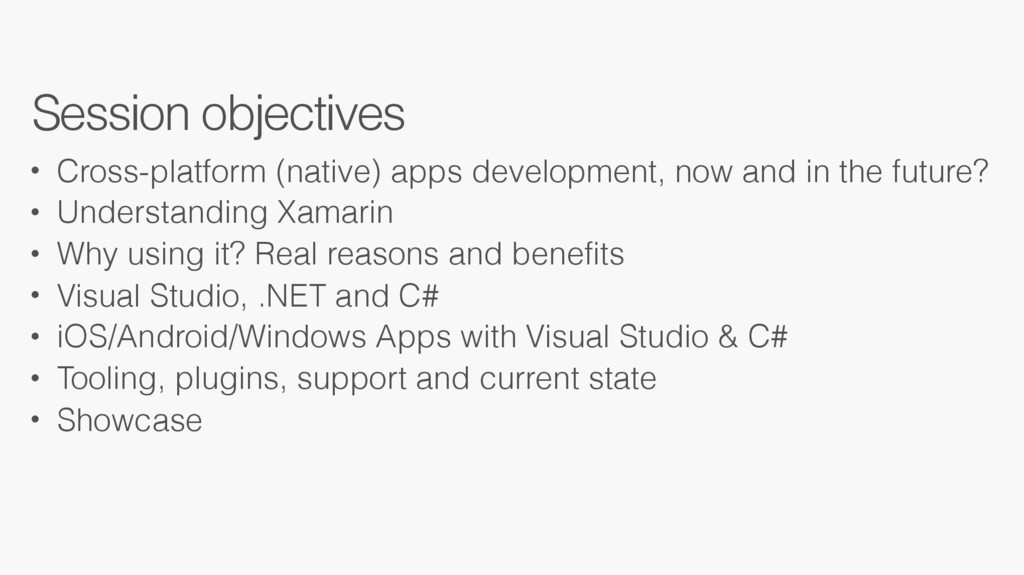 • Cross-platform (native) apps development, now...