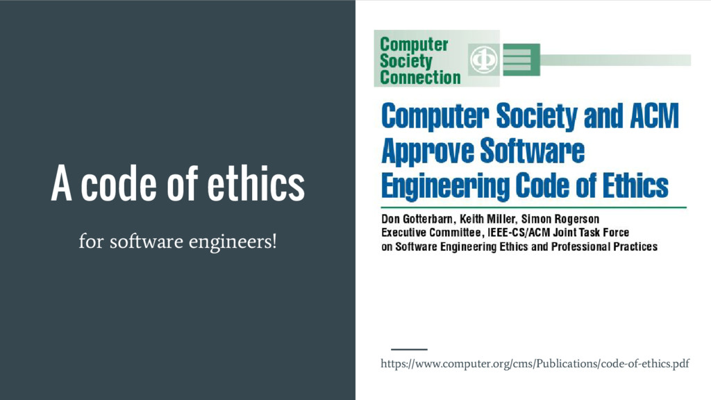 A code of ethics for software engineers! https:...