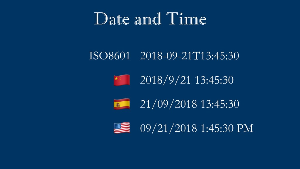 Date and Time 2018-09-21T13:45:30 2018/9/21 13:...