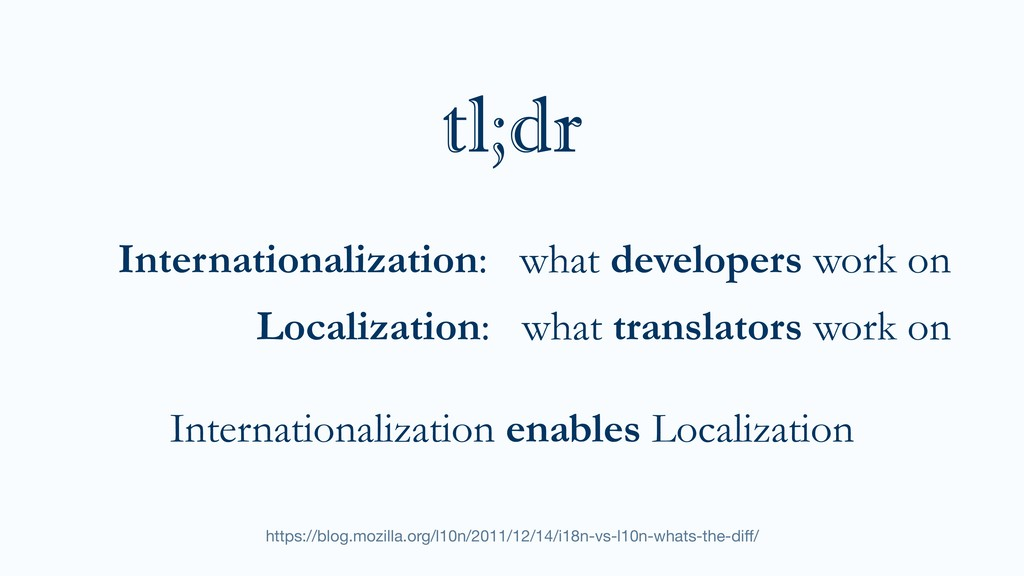 Internationalization: what developers work on L...