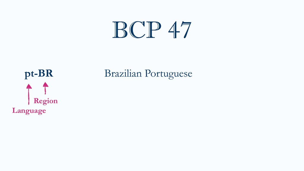 pt-BR Brazilian Portuguese BCP 47 Language Regi...
