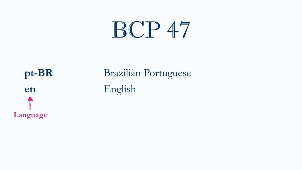 pt-BR Brazilian Portuguese en English BCP 47 La...