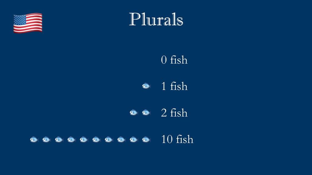Plurals 0 fish 1 fish 2 fish 10 fish           ...