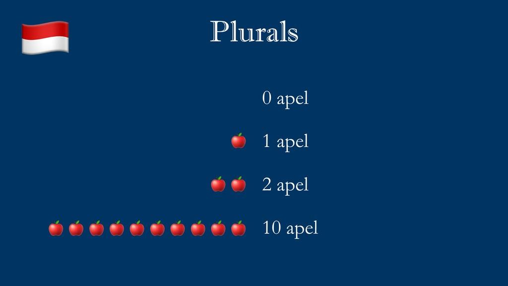 Plurals 0 apel 1 apel 2 apel 10 apel           ...
