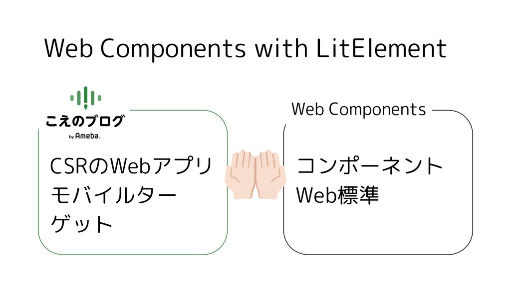 Web Components with LitElement CSRのWebアプリ モバイルタ...