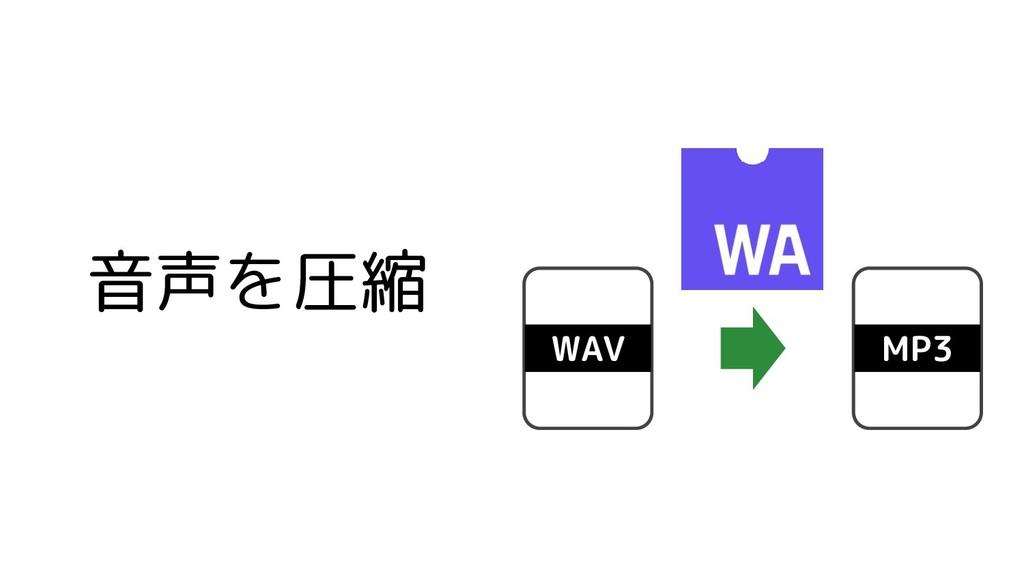 音声を圧縮 WAV MP3