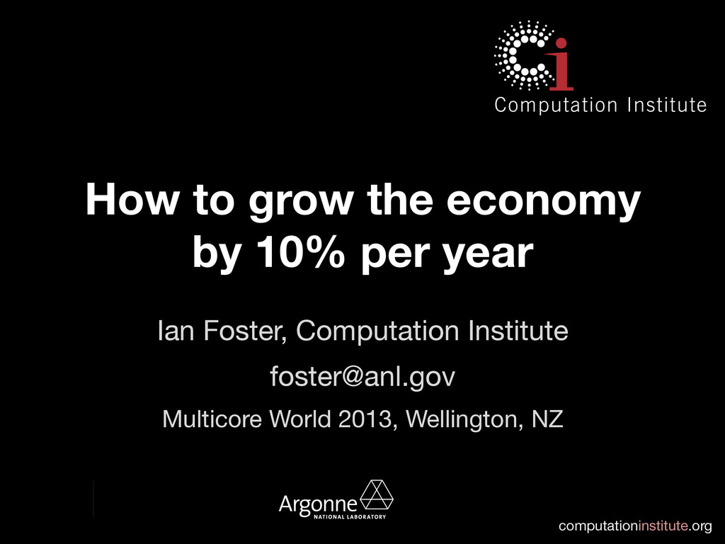 computationinstitute.org How to grow the econo...