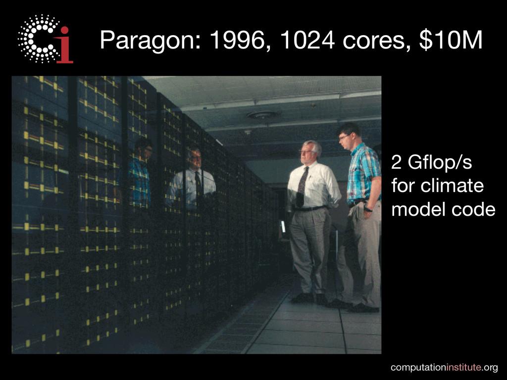 computationinstitute.org Paragon: 1996, 1024 c...