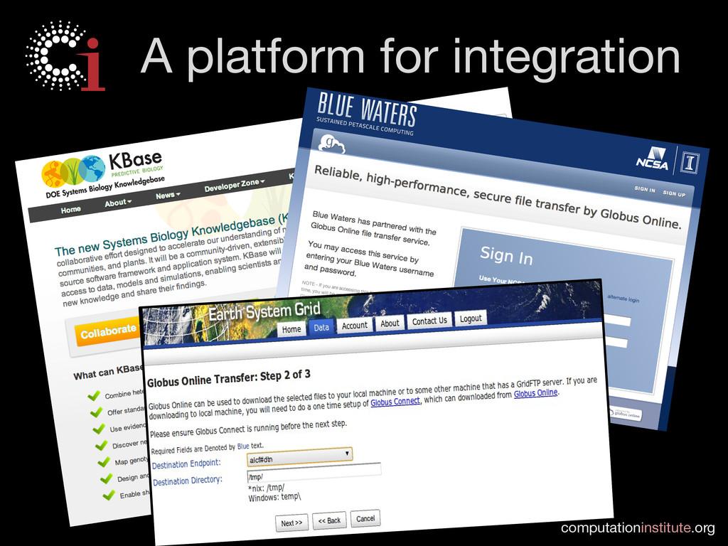 computationinstitute.org A platform for integr...