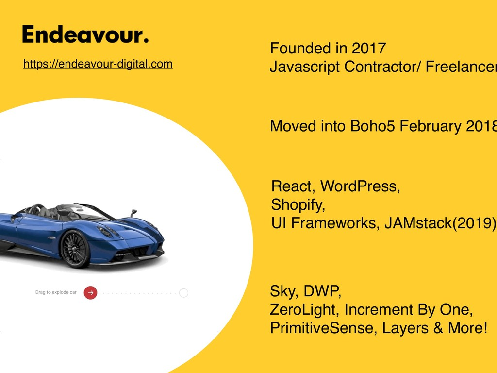 Founded in 2017 Javascript Contractor/ Freelanc...