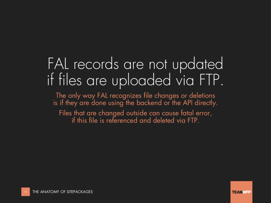 FAL records are not updated if files are upload...
