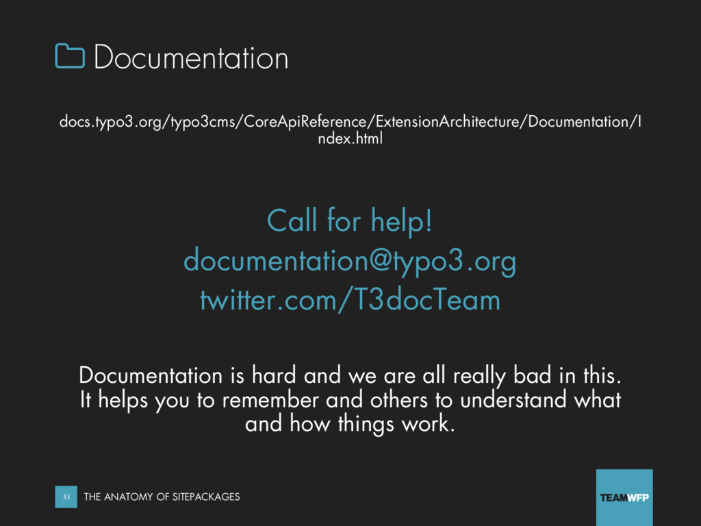  Documentation docs.typo3.org/typo3cms/CoreApi...