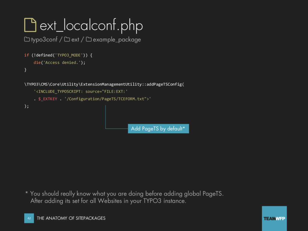  ext_localconf.php if (!defined('TYPO3_MODE'))...