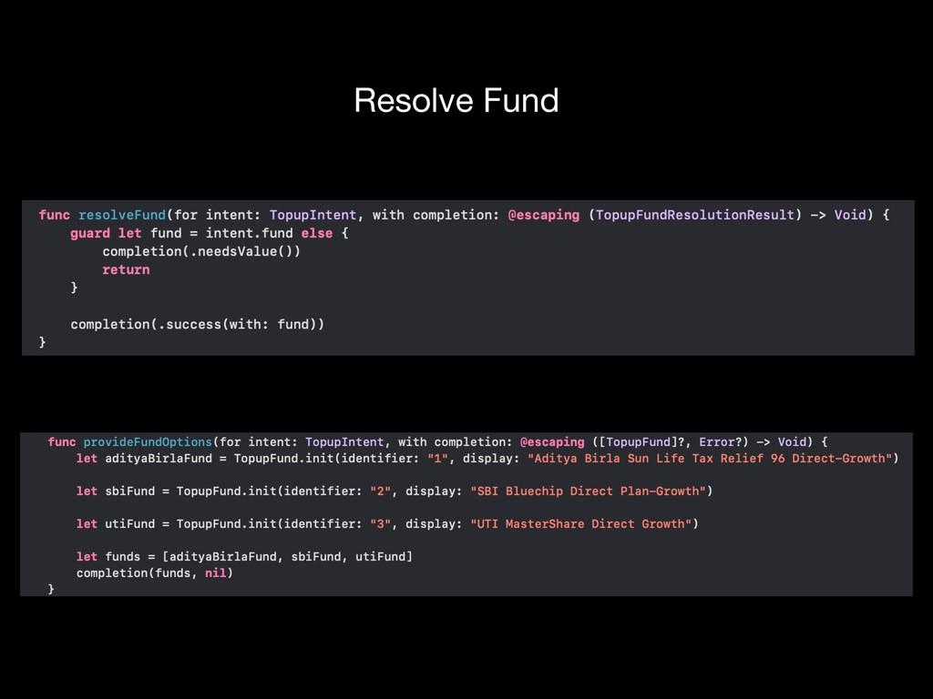 Resolve Fund