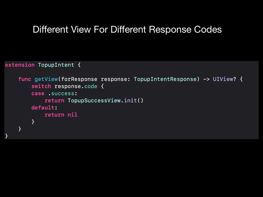 Different View For Different Response Codes