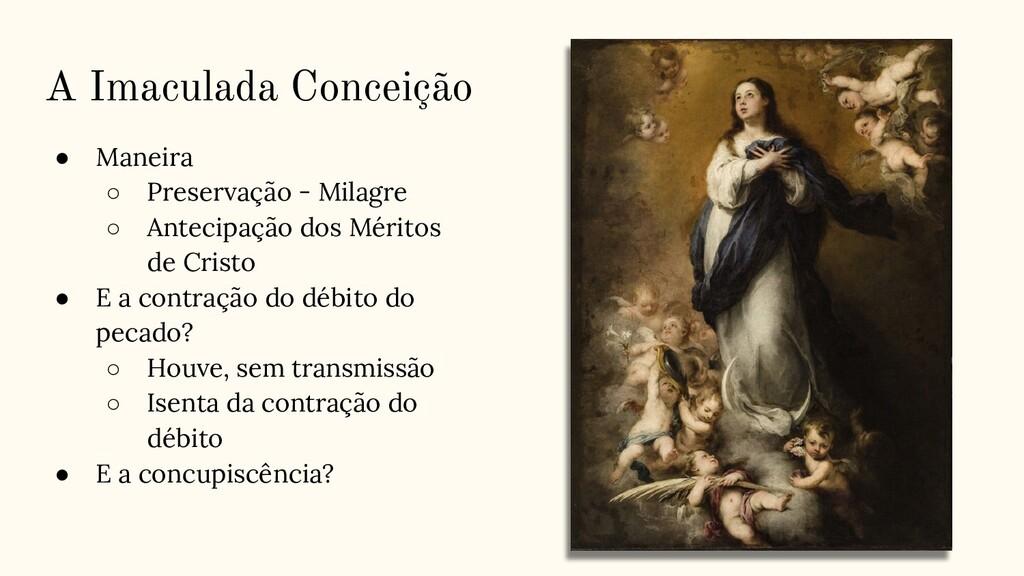 A Imaculada Conceição ● Maneira ○ Preservação -...
