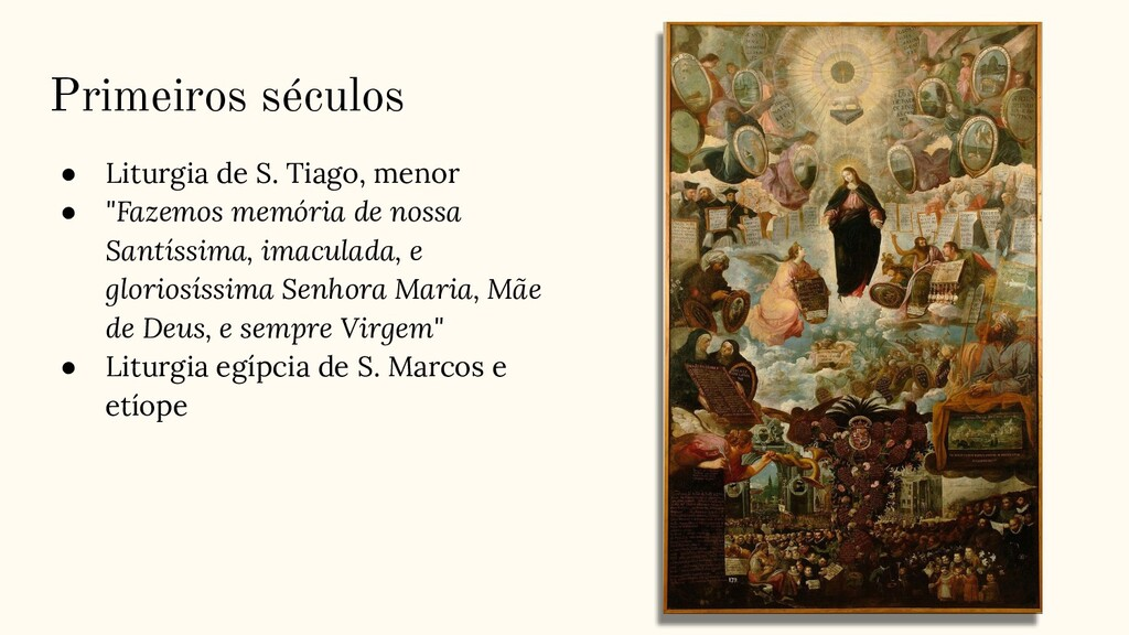 Primeiros séculos ● Liturgia de S. Tiago, menor...