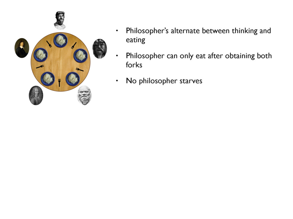• Philosopher's alternate between thinking and ...