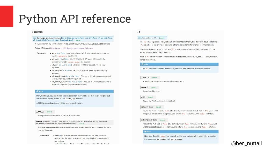 @ben_nuttall Python API reference
