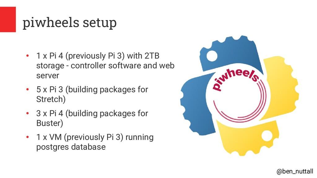 @ben_nuttall piwheels setup ● 1 x Pi 4 (previou...