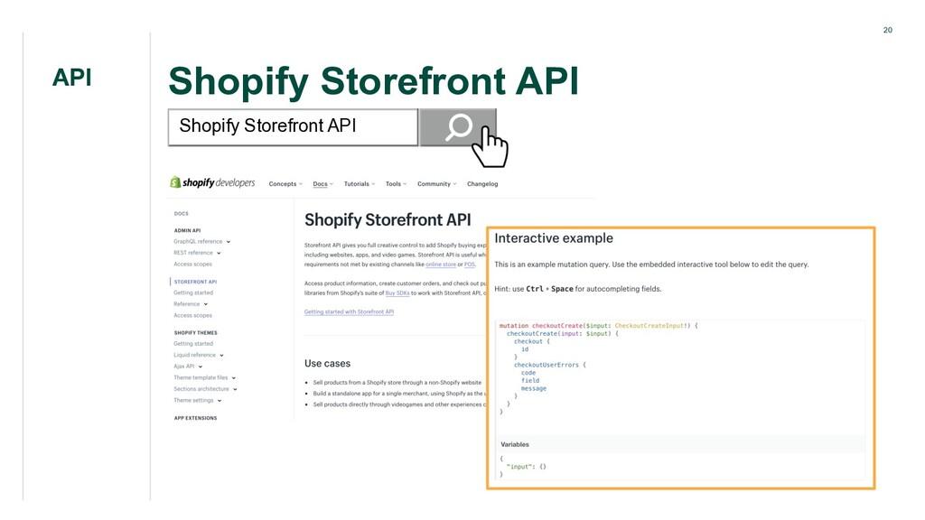 20 Shopify Storefront API API Shopify Storefron...