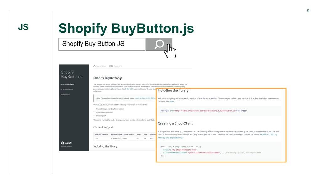22 Shopify BuyButton.js JS Shopify Buy Button JS