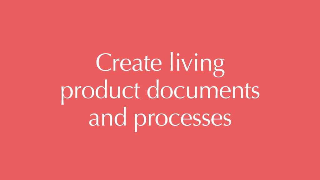 Create living 